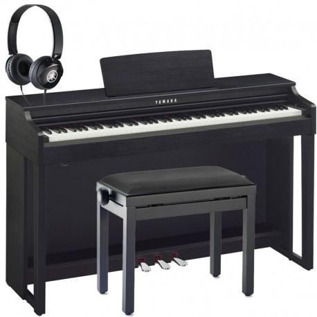 piano num rique yamaha clavinova clp 525b noir mat pack. Black Bedroom Furniture Sets. Home Design Ideas