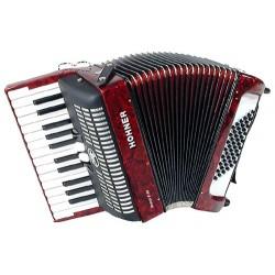Accordéon Chromatique Hohner Piano Bravo II 48 Rouge