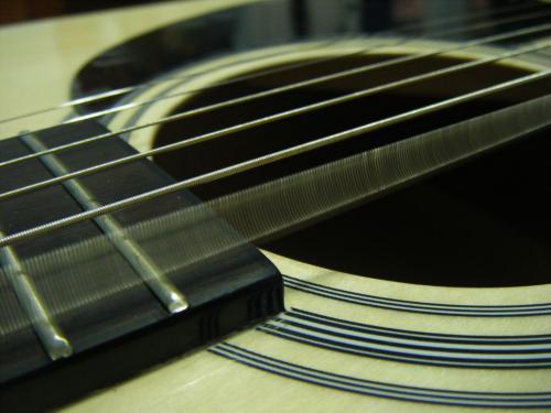 Vibration des cordes d'une guitare