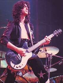 Jimmy Page jouant sa Danelectro