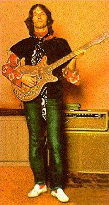Eric Clapton avec sa Danelectro Psychedelic