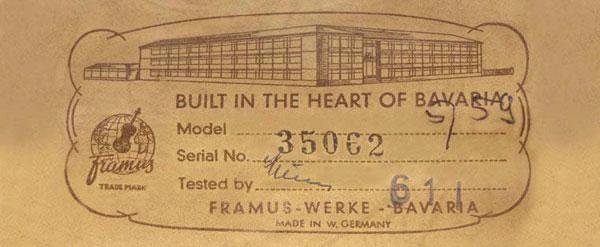 L'histoire de Framus