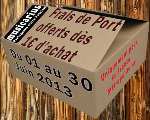 Frais de Port offerts dès 1€ d'achat