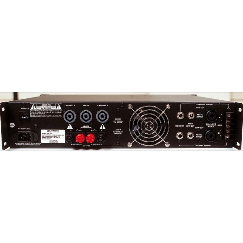 crest audio ampli 2x500 watts 4 ohms musicarius. Black Bedroom Furniture Sets. Home Design Ideas