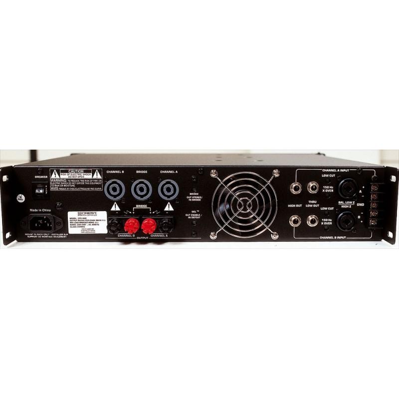 crest audio ampli 2x750 watts 4 ohms musicarius. Black Bedroom Furniture Sets. Home Design Ideas