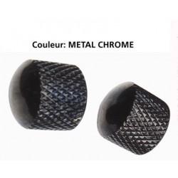 Boutons Retroparts Chromés Dôme Métal x2