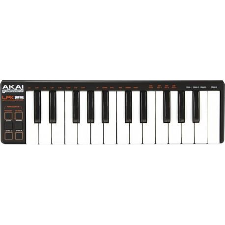 Clavier Maitre Akai 25 notes mini touches USB