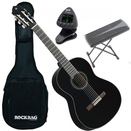 guitare gaucher noire