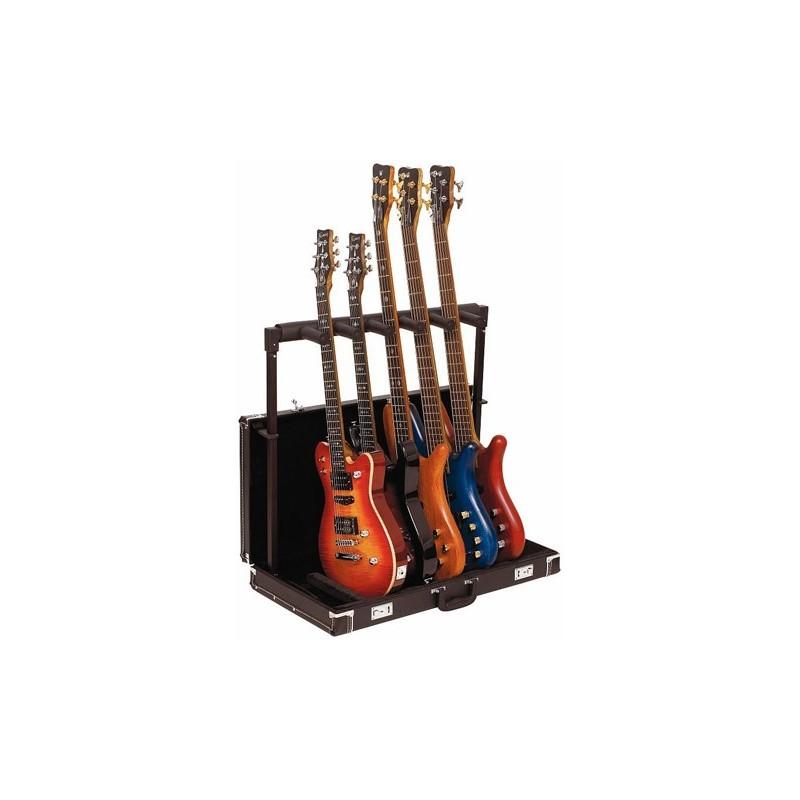 Rockstand stand pour 5 guitares pliable en etui musicarius for Stand pliable