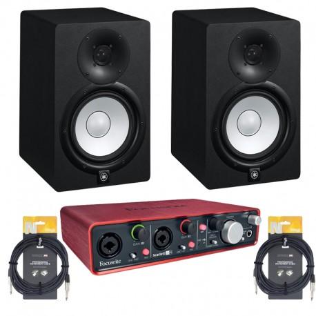 Scarlett 2i4 + Yamaha HS7 + Cable