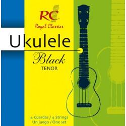 Royal Classic Ukulele Black Tenor