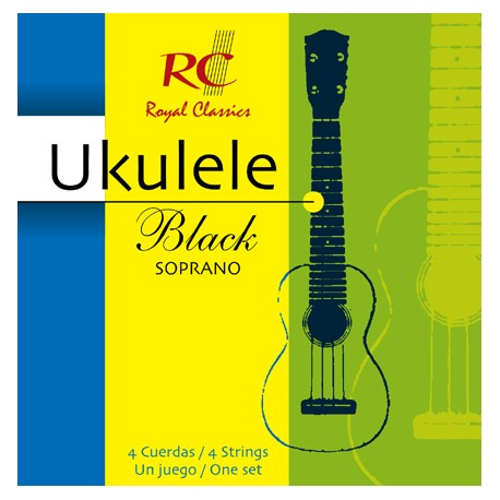 Royal Classic Ukulele Black Soprano