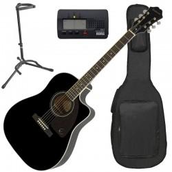 Epiphone AJ220SCE Ebony Pack