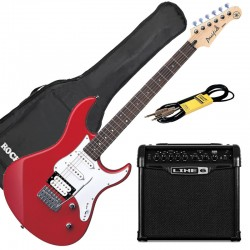 Yamaha Pack Guitare Pacifica 112 V Rouge + Line 6 Spider 15 + Accessoires
