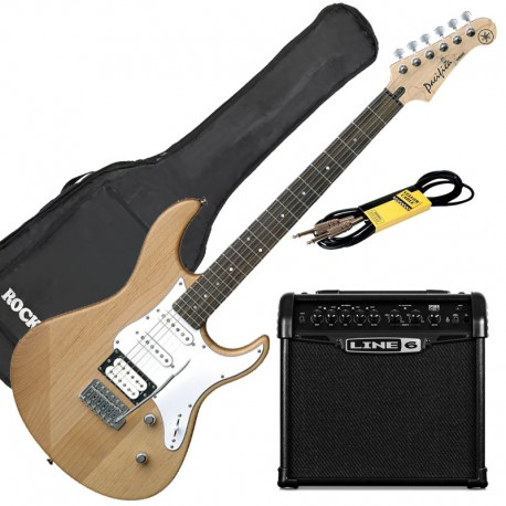 Yamaha Pack Guitare Pacifica 112 V Naturel + Line 6 Spider 15 + Accessoires