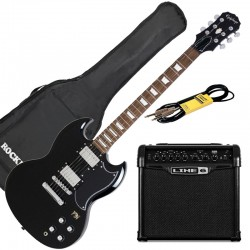 Pack Guitare Epiphone G400Pro + Line 6 Spider 15 + Accessoires