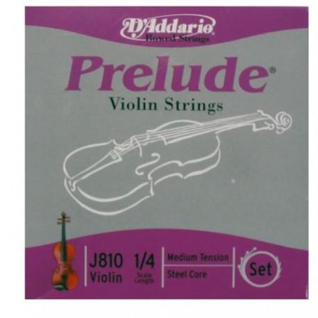 Jeu Cordes d'Addario Violon (1/4) Prélude Medium