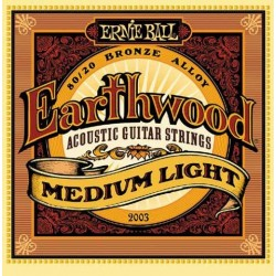 Jeu Cordes Ernie Ball Earthwood Medium Light
