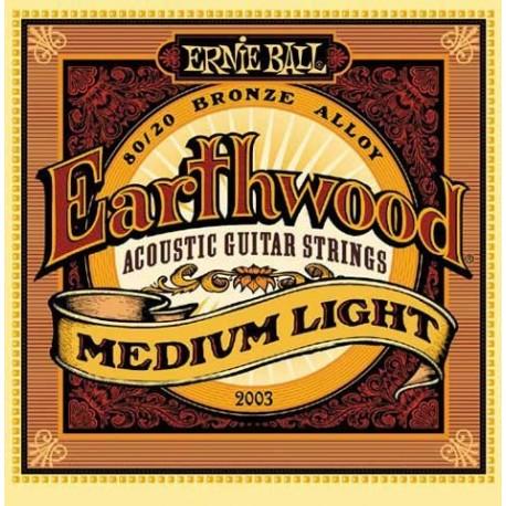Jeu Cordes Ernie Ball Earthwood Medium Light