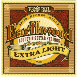 Jeu Cordes Ernie Ball Earthwood Extra Light
