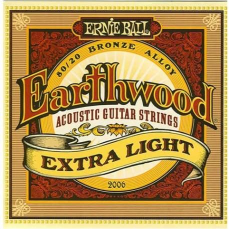Jeu Cordes Ernie Ball Earthwood Extra Light