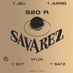 Jeu Cordes Savarez 520 rouge tirant normal
