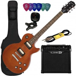 Pack Epiphone Les Paul Studio LT Walnut