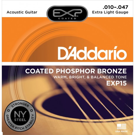 Jeu Cordes d'Addario Phosphore Bronze Extra-Light