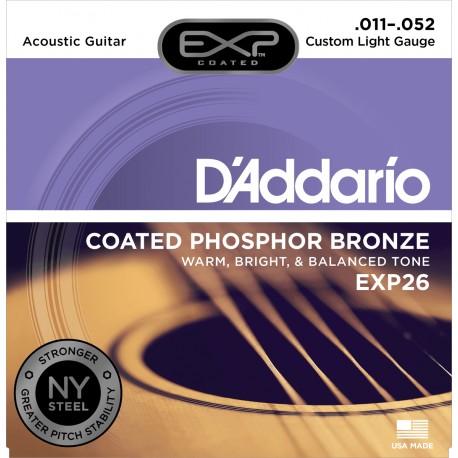 Jeu Cordes d'Addario Phosphore Bronze Custom Light