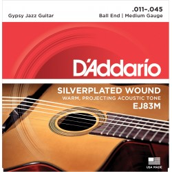 Jeu Cordes d'Addario Gypsy Jazz Medium