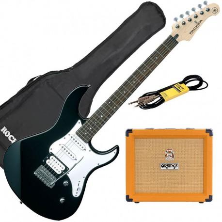 Yamaha Pack Guitare Pacifica 112 V Noire + Orange Crush 20 + Accessoires