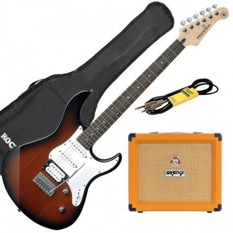 Yamaha Pack Guitare Pacifica 112 V Old Violin Sunburst +Orange crush 20+ Accessoires