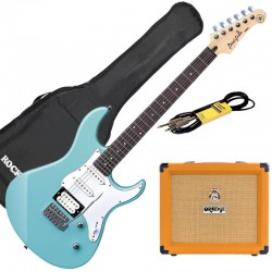 Yamaha Pack Guitare Pacifica 112 V Sonic Blue + Orange crush 20+ Accessoires