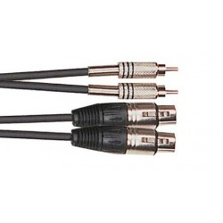 Cordon Adaptateur 2 XLR Femelle/2 RCA Mâle 3m Yellow Cable