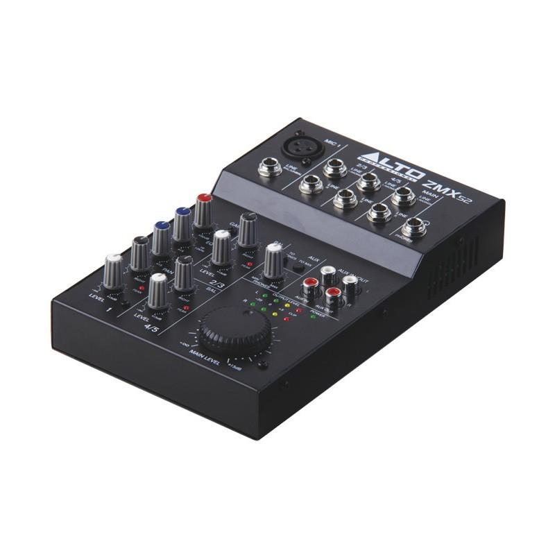 Alto mixeur compact 5 canaux musicarius - Table de mixage professionnelle studio ...
