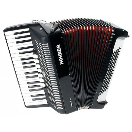 Accordéon Chromatique Hohner Piano Bravo III 80 Noir
