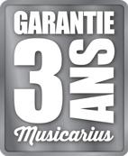 Garantie 3 ans Musicarius